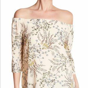 Bailey 44 off the shoulder floral shirt